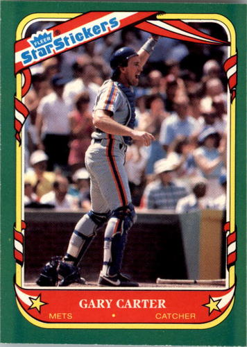 Photo of 1987 Fleer Star Stickers #20 Gary Carter