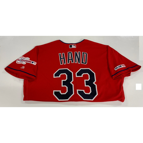 Photo of Brad Hand Game Used Alternate Home Jersey