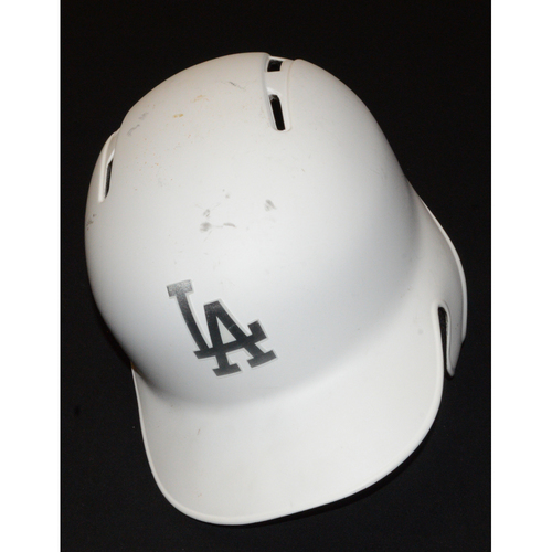 "Photo of Jedd ""JERK STORE"" Gyorko Los Angeles Dodgers Game-Used 2019 Players' Weekend Helmet"