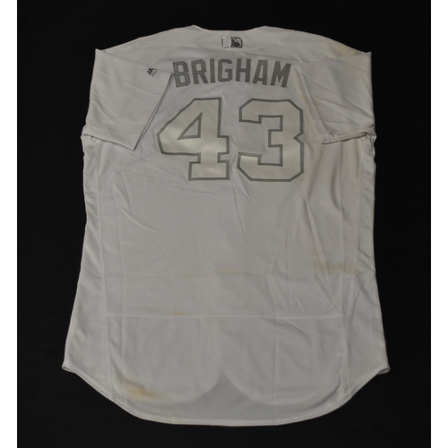 "Photo of Jeff ""BRIGHAM"" Brigham Miami Marlins Game-Used 2019 Players' Weekend Jersey"