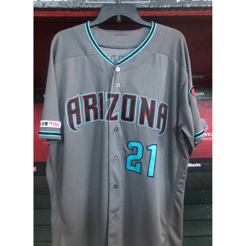Photo of Zack Greinke Game-Used Jersey - 7/26/19 vs. the Marlins (worn 4th-6th inning)