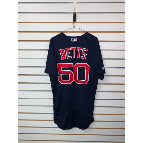 Photo of Mookie Betts Game Used July 5, 2019 Road Alternate Jersey - 3 for 4