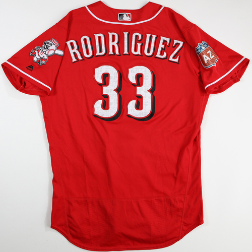 Photo of 2016 Spring Training - Spring Training Game Used Jersey - Yorman Rodriquez (Reds)- Size- 46