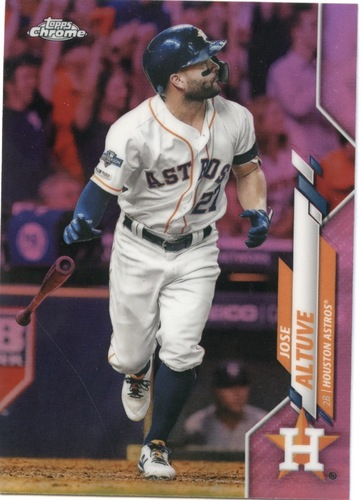 Photo of 2020 Topps Chrome Pink Refractors #42 Jose Altuve