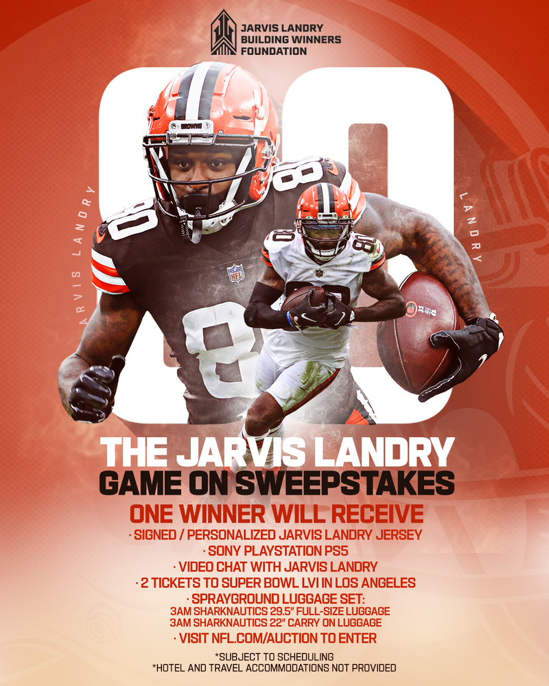 The Jarvis Landry GAME ON Sweepstakes