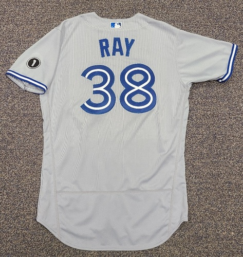 Photo of Authenticated Team Issued Jersey: #38 Robbie Ray (2020 Season). No Set. Size 46.