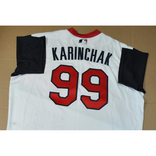 Photo of Game-used Jersey - 2021 Little League Classic - Los Angeles Angels vs. Cleveland Indians - 8/22/2021 - Great Lakes, James Karinchak #99