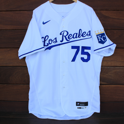 Photo of Game-Used Los Reales Jersey: Damon Hollins #75 (SEA@KC 9/17/21) - Size 48