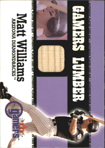 Photo of 2000 Fleer Gamers Lumber #48 Matt Williams