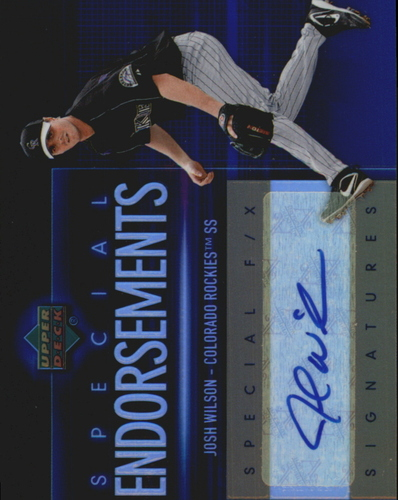 Photo of 2006 Upper Deck Special F/X Special Endorsements #JO Josh Wilson AUTO