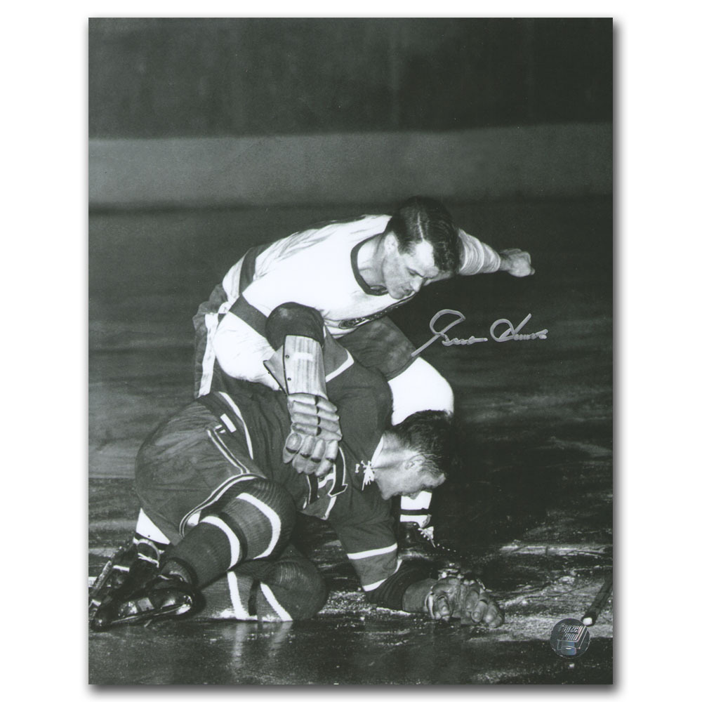 Gordie Howe Autographed Detroit Red Wings 8X10 Photo w/Maurice Richard