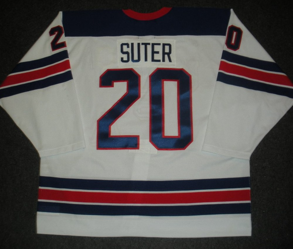 Ryan Suter - Sochi 2014 - Winter Olympic Games - Team USA Throwback Game-Worn Jersey - Worn in 2nd and 3rd Periods vs. Slovenia, 2/16/14