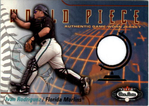 Photo of 2003 Fleer Box Score World Piece Game Jersey #IR Ivan Rodriguez