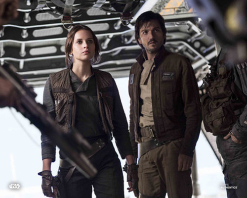 Jyn Erso and Captain Cassian Andor