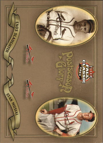 Photo of 2003 Fleer Fall Classics Postseason Glory #2 E.Slaughter/S.Musial