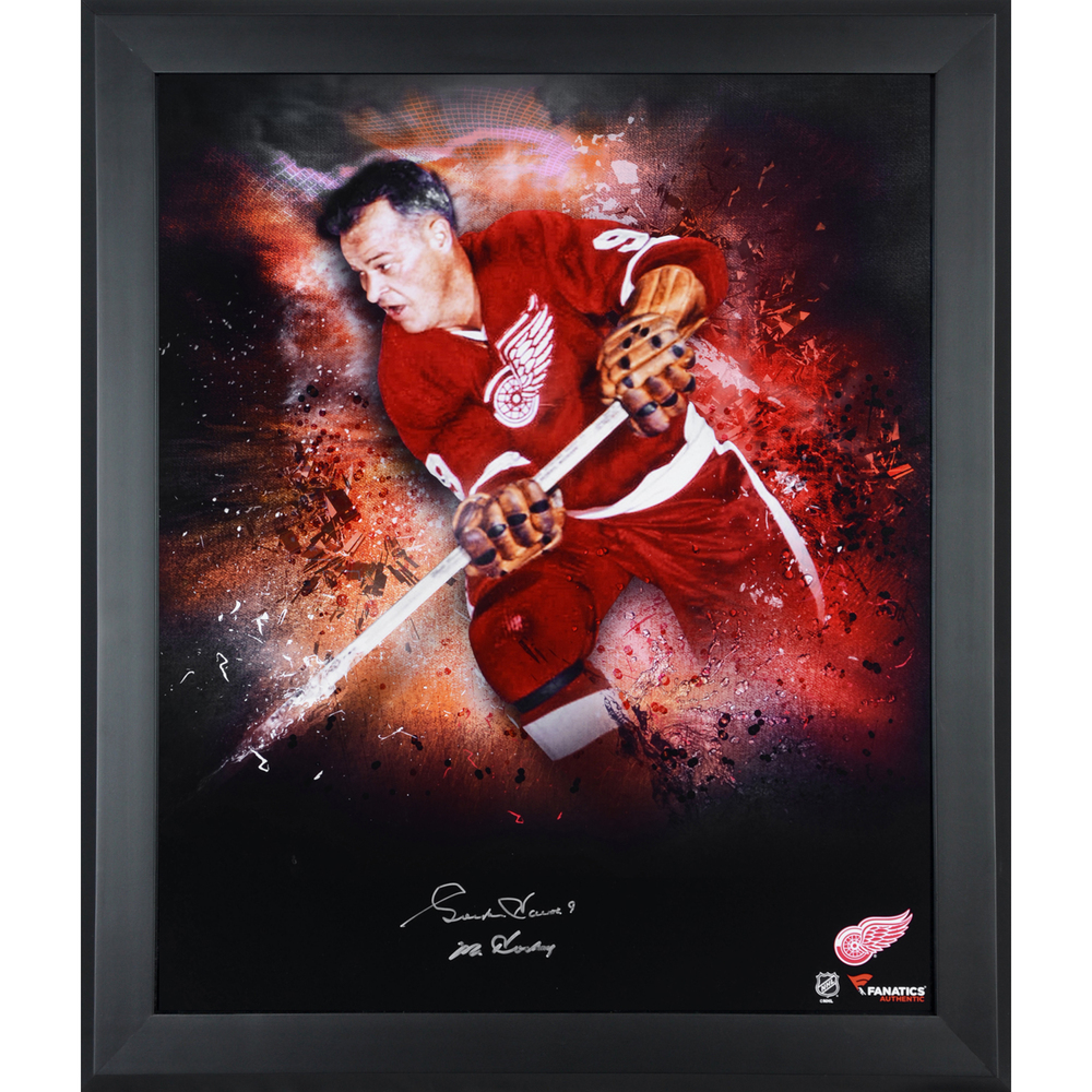 Gordie Howe Detroit Red Wings Framed Autographed 20