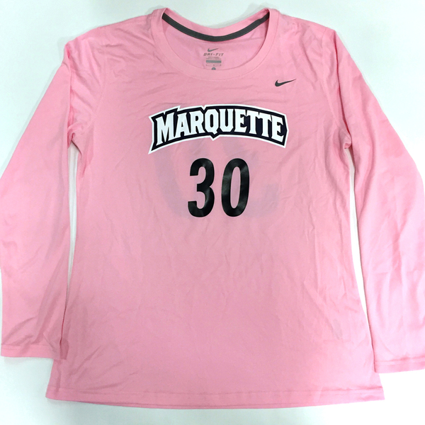 Photo of 2017 Marquette Women's Soccer 'Kick for a Cure' Jersey #30 (Size L)