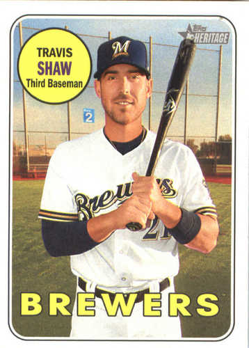 Photo of 2018 Topps Heritage #204 Travis Shaw