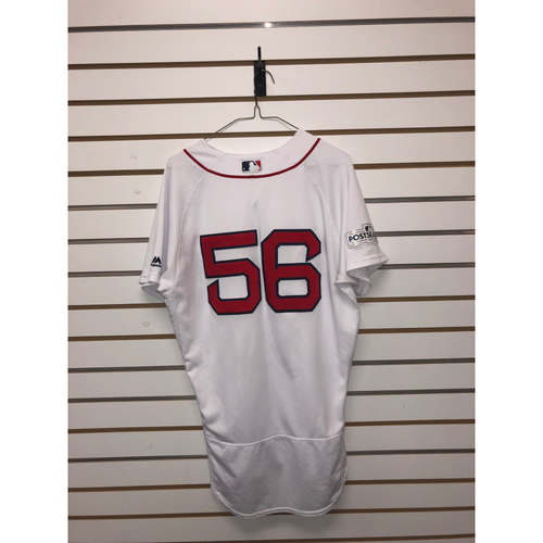 Photo of Joe Kelly Game Used ALDS Game 3 October 8, 2017 Home Jersey
