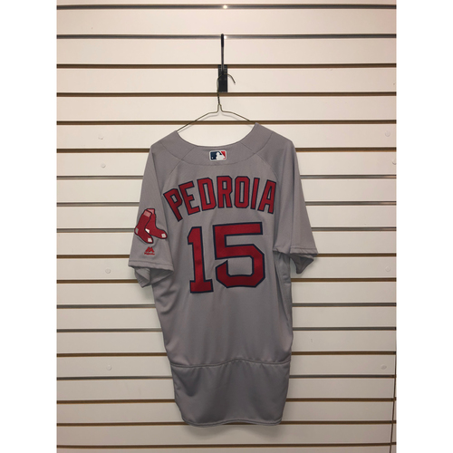 Photo of Dustin Pedroia Team-Issued 2016 Road Jersey