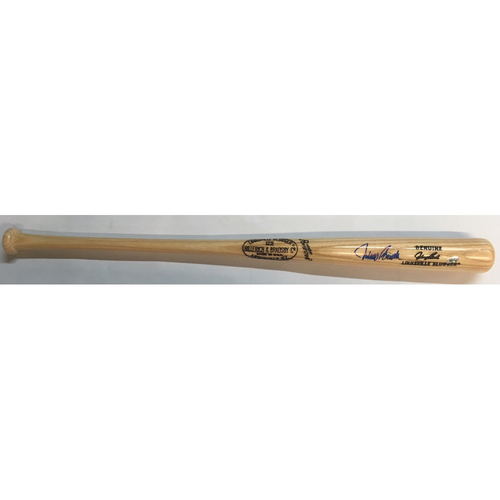 Photo of Johnny Bench Autographed Game Model Bat