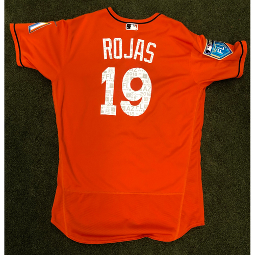 Photo of Game Used: Miguel Rojas 2018 Spring Training Jersey - Size 46