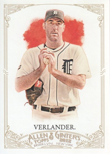 Photo of 2012 Topps Allen and Ginter #262 Justin Verlander