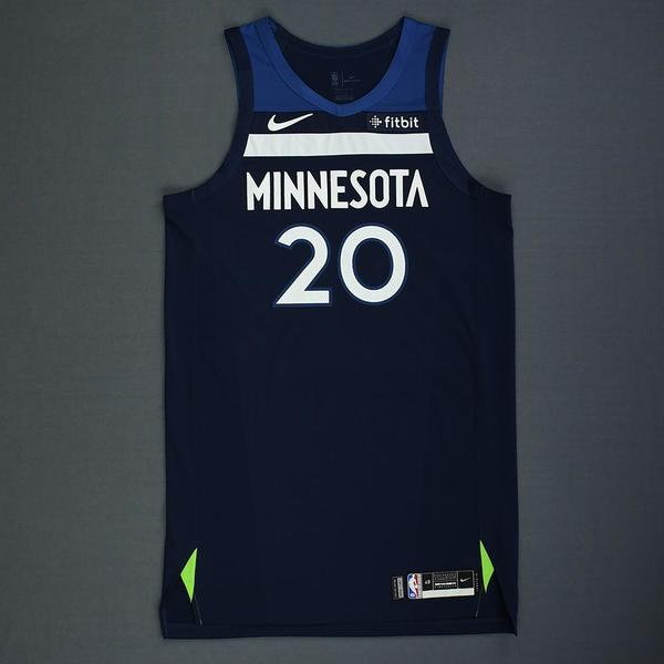 b829286cfea Josh Okogie - Minnesota Timberwolves - Rookie-Debut - Game-Worn Icon  Edition Jersey - 2018-19 Sea.