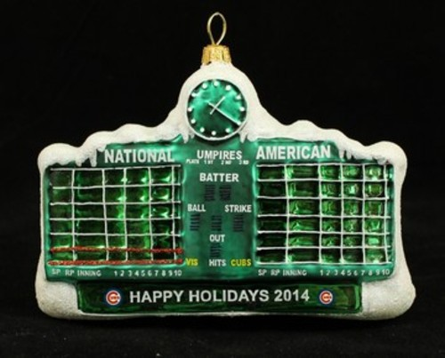 Cubs Christmas Ornaments.Holiday Time 2014 Limited Edition Christopher Radko Ornament