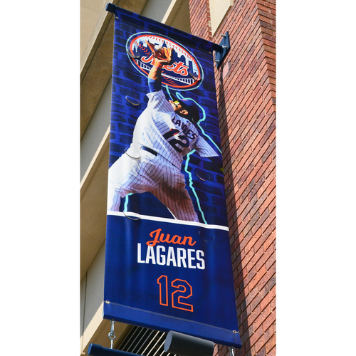 Photo of Juan Lagares #12 - Citi Field Banner - 2018 Season
