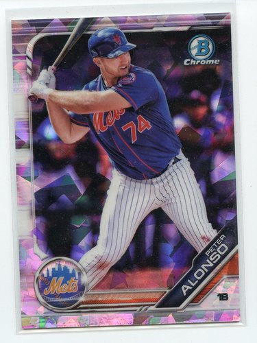 Photo of 2019 Bowman Chrome Prospects Atomic Refractors #BCP127 Peter Alonso