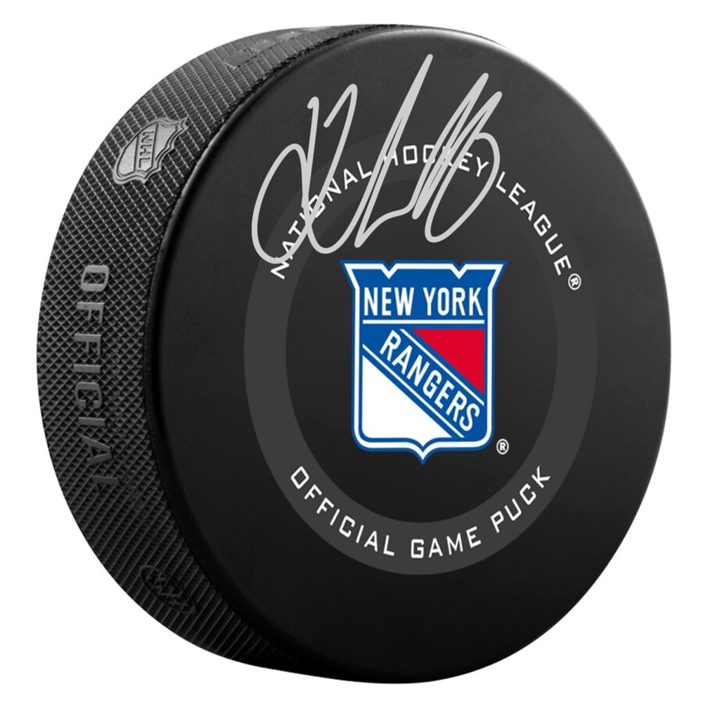 Kaapo Kakko New York Rangers Autographed Official Game Puck in Mahogany Display Case