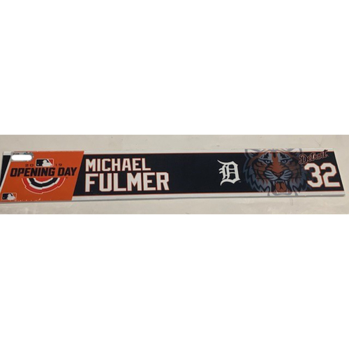 Photo of Team-Issued 2019 Opening Day Locker Name Plate: Michael Fulmer