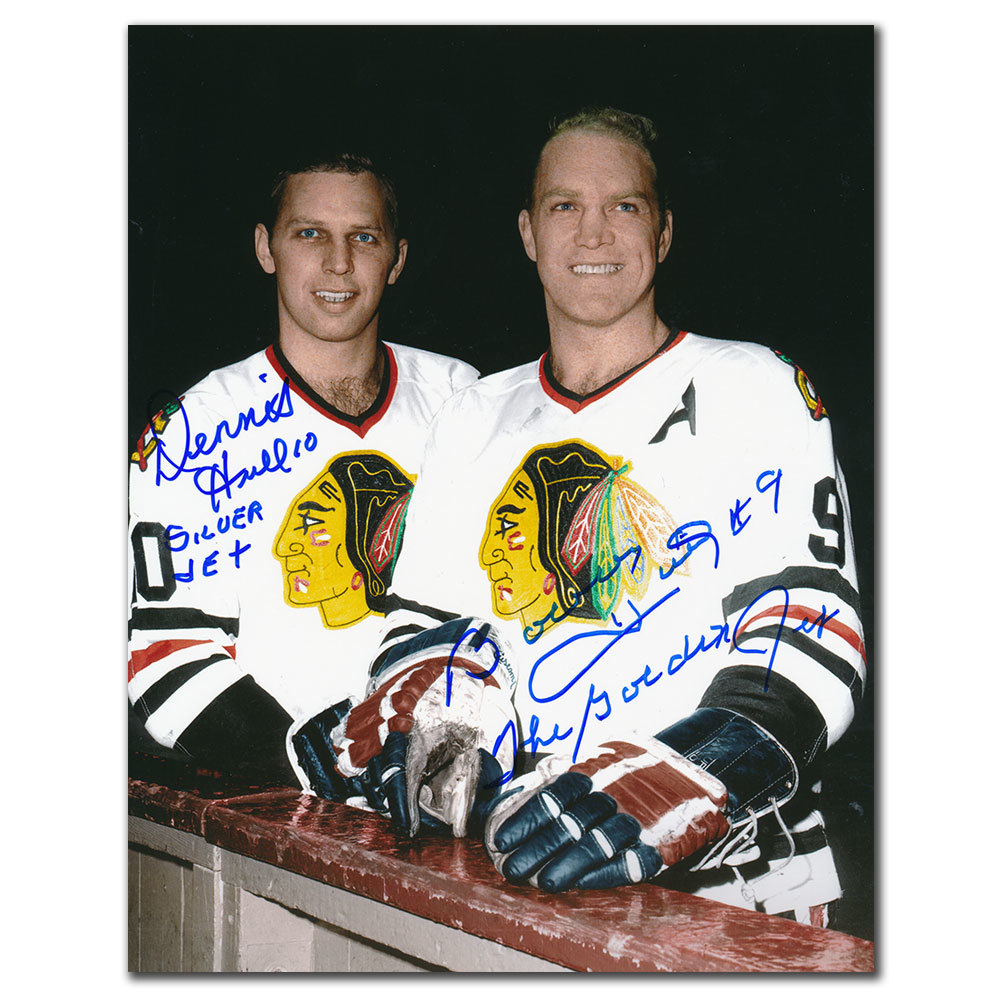 Bobby Hull & Dennis Hull Chicago Blackhawks Dual Autographed 8x10