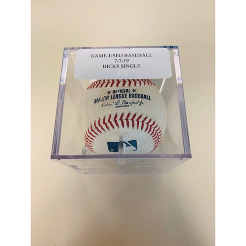 Photo of Game-Used Baseball: John Hicks Single