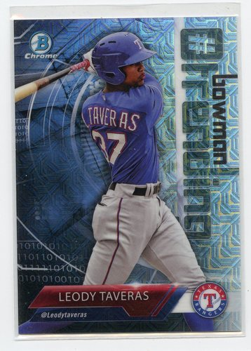 Photo of 2018 Bowman Chrome Mega Box Hashtag Trending Refractors #LT Leody Taveras