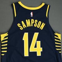 JaKarr Sampson - Indiana Pacers - Game-Worn Icon Edition Jersey - NBA India Games - 2019-20 NBA Season