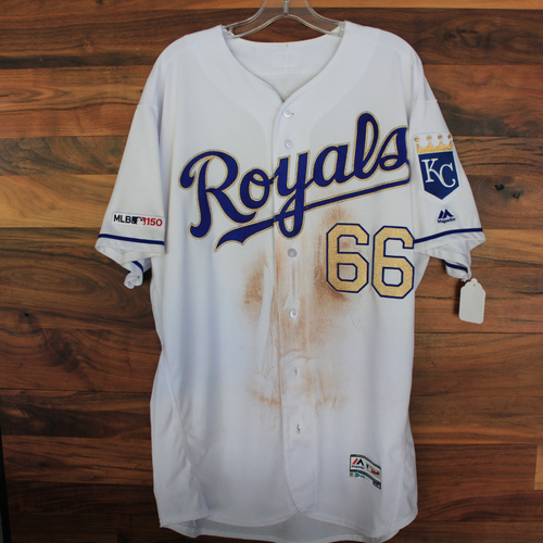 Photo of Game-Used Jersey: Ryan O'Hearn (Size 48 - MIN @ KC - 9/27/19)