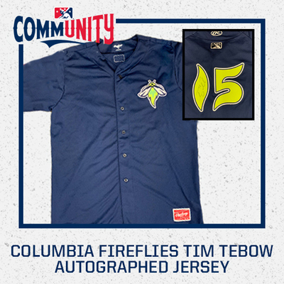 Tim Tebow Game Worn Autographed Columbia Fireflies Jersey
