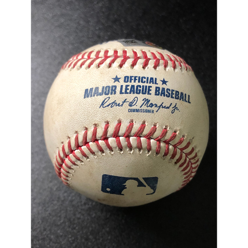 Photo of Game-Used Baseball - 2020 NLCS - Los Angeles Dodgers vs. Atlanta Braves - Game 5 - Pitcher: Joe Kelly, Batter: Dansby Swanson (Dodgers Challenge, Call Overturned - Double Play) - Bot 3