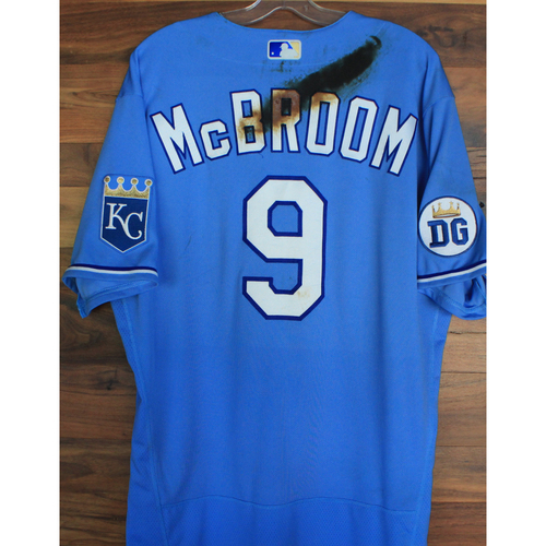 Photo of Alex's Lemonade Stand Foundation: Game-Used Ryan McBroom Jersey (Size 46 - 9/26/20 DET @ KC)