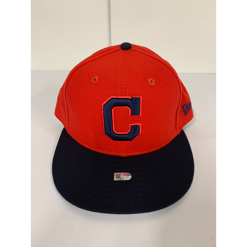 "Photo of Team Issued Cap - #28 Player's Weekend Cap Red with Block ""C"""