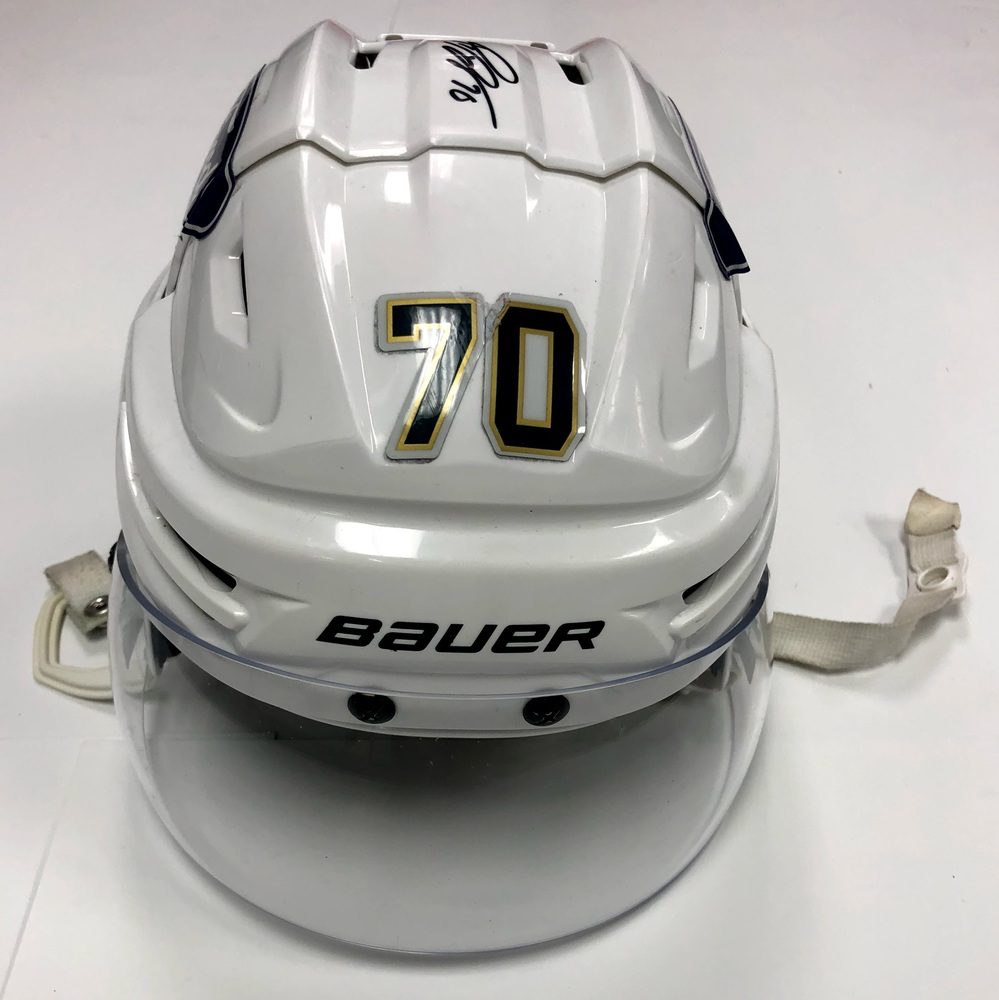 #70 Patric Hornqvist Game Used Helmet - Florida Panthers