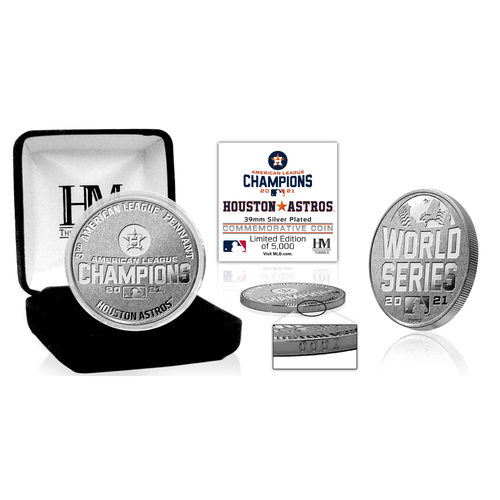 Photo of Houston Astros 2021 American League Champions Silver Coin LE #1