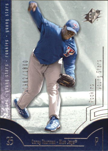 Photo of 2002 SPx #110A Corey Thurman YS RC