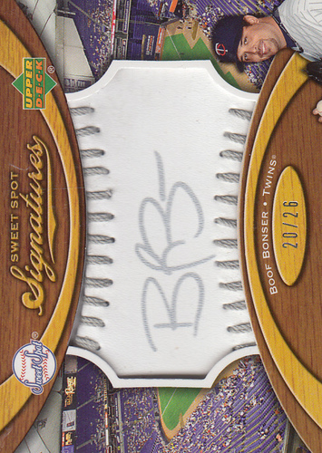 Photo of 2007 Sweet Spot Signatures Silver Stitch Silver Ink #BB Boof Bonser/26