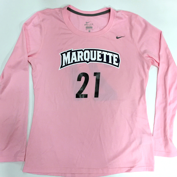 Photo of 2017 Marquette Women's Soccer 'Kick for a Cure' Jersey #21 (Size M)