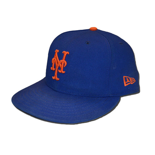 Photo of Jacob deGrom #48 - Game Used Blue Hat - Mets vs. Braves - 9/27/17