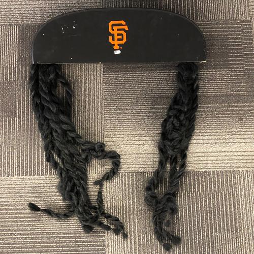 Photo of San Francisco Giants - 2017 Strikeout K Board Topper - Johnny Cueto Dreadlocks