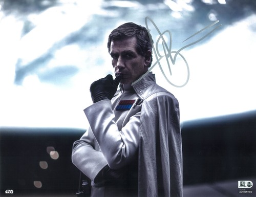 Ben Mendelsohn as Director Orson Krennic 11x14 Autographed in Silver Ink Photo